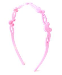 Disney Hair Band With Minnie Mouse Face Design - Light Pink