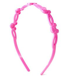 Disney Hair Band With Minnie Mouse Face Design - Magenta Pink