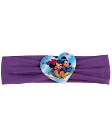 Disney Headband Mickey And Minnie Mouse Graphic - Purple