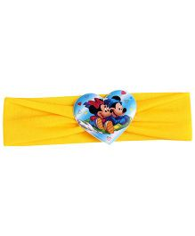 Disney Headband Mickey And Minnie Mouse Graphic - Yellow