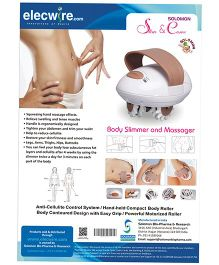Solomon Slim & Curve Massager - Brown And White