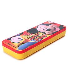 Mickey Mouse And Friends Pencil Box - Red And Yellow