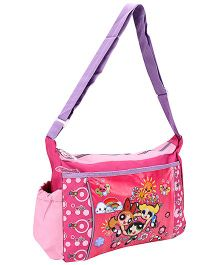 Power Puff Girls Messenger Bag Pink And Purple - Height 10 Inches