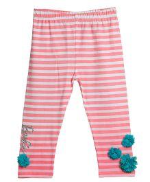Barbie Full Length Leggings Stripe Pattern - Pink
