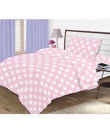 Kooki-Choo Pink Owls Single Bed Sheet