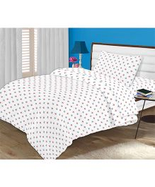 Kooki-Choo Starry Space Single Bed Sheet - White And Multicolor