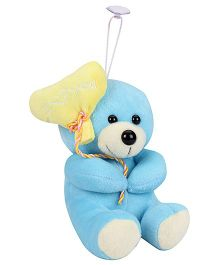 Tickles Teddy Bear With Balloon Heart Applique Sky Blue - 5.9 Inches
