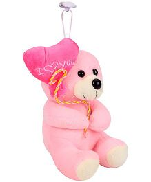 Tickles Teddy Bear With Balloon Heart Applique Pink - 15 cm