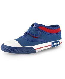 Beanz Lancaster Canvas Sneaker - Blue & Red