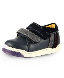 Beanz Casual Shoes With Velcro Closure - Blue And Black