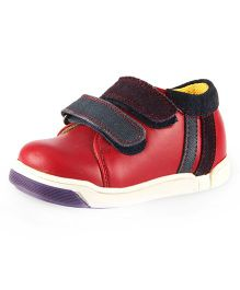 Beanz Casual Shoes With Velcro Closure - Red