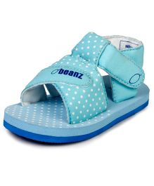 Beanz Supples Sandal With Velcro Closure - Blue