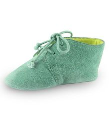 Beanz Booties Lace Tie-Up - Teal Green