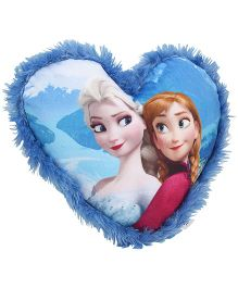 Disney Frozen Heart Shape Plush Cushion - Dark Blue