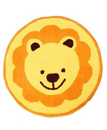 Fly Frog Wool Yarn Dyed Lion Design  Rug - Yellow