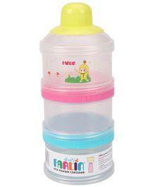Farlin 3 Layered Milk Powder Container  - Multi Colour