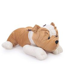 Liviya Bull Dog Soft Toy Brown - Length 25 Inches
