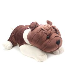 Liviya Lying Bull Dog Soft Toy