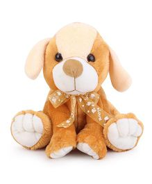 Liviya Sitting Puppy Soft Toy Golden Brown - 24 cm