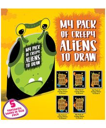 My Pack of Creepy Aliens to Draw - English