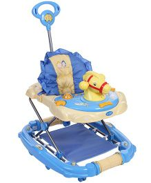 Musical Baby Walker Cum Rocker With Push Handle Blue - 3290A