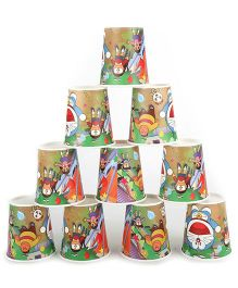 Doraemon Party Glasses Multicolour - Pack Of 10
