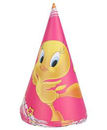 Tweety Paper Hats Pink - Pack Of 8