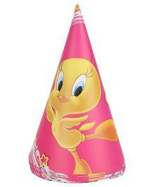 Tweety Paper Hats Pink - Pack Of 8