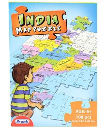 Frank India Map Jigsaw Puzzle - 108 Pieces