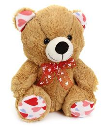Playtoons Sitting Bear With Heart & Printed Sole Brown - Height 10 Inches