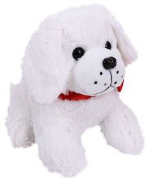 Playtoons Cute Dog White - Height 8 inches