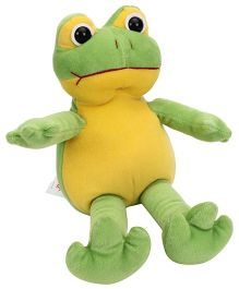 Playtoons Frog Soft Toy Green & Yellow - 25 cm