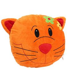 Playtoons Cat Face Cushion - Orange
