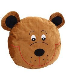 Playtoons Bear Face Cushion - Brown