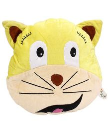 Playtoons Cat Face Cushion - Yellow