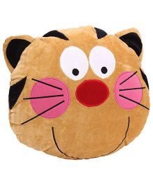Playtoons Cat Face Cushion - Brown