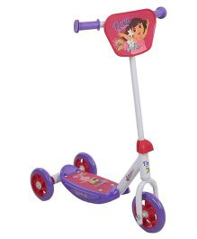 Dora Three Wheel Scooter - White And Violet