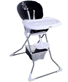 High Chair With Storage Basket Black And White - HC-61