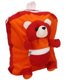 IR Activity Bag Teddy Bear Applique - Red Orange