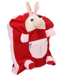 IR Activity Bag Bunny Applique - Pink Red