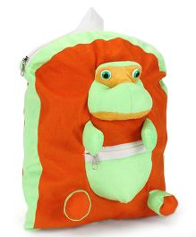 IR Activity Bag Frog Applique Yellow Green - 12 inch