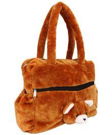 IR Teddy Bear Shouder Bag - Dark Brown