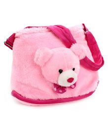 IR Purse With Teddy Face Design - Pink