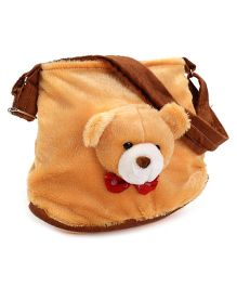 IR Purse With Teddy Face Design - Brown