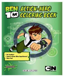 Action Hero Coloring Book - English