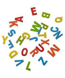 Skillofun Magnetic Cutouts Capital Wooden Alphabets - Multi Color