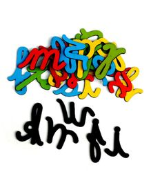 Skillofun Magnetic Cutouts Cursive Wooden Alphabets - 26 Pieces