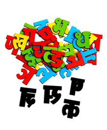 Skillofun Magnetic Cutouts Hindi Wooden Alphabets - Multi Color