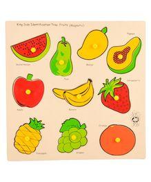 Skillofun Wooden Magnetic Kingsize Fruits Puzzles - 10 Pieces