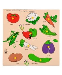 Skillofun Wooden Magnetic Kingsize Vegetables Puzzles - 10 Pieces